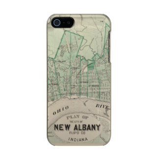 Plan of the City of New Albany, Floyd Co, Indiana Metallic Phone Case For iPhone SE/5/5s
