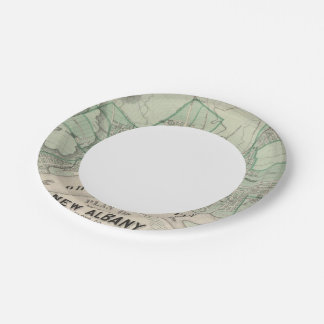 Plan of the City of New Albany, Floyd Co, Indiana Paper Plate