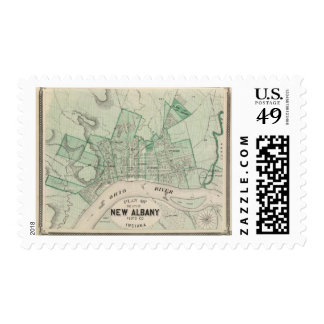 Plan of the City of New Albany, Floyd Co, Indiana Postage