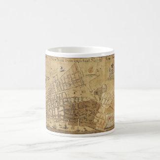 Plan of the City of New York Map (1755) Classic White Coffee Mug