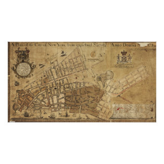 Plan of the City of New York Map (1755) Poster