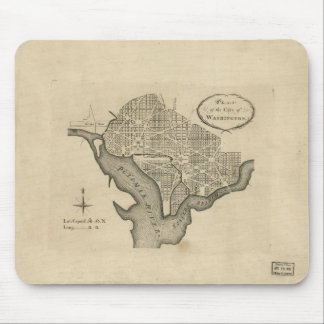 Plan of the City of Washington D.C. (1794) Mouse Pad