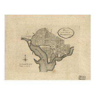Plan of the City of Washington D.C. (1794) Postcard