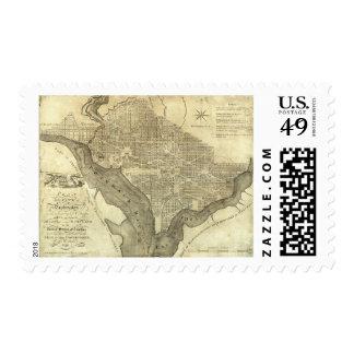 Plan of the City of Washington Postage Stamp