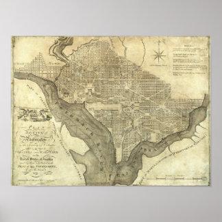 Plan of the City of Washington Poster