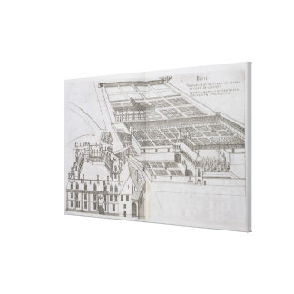 Plan of the enclosed gardens and Chateau de Gaillo Canvas Print