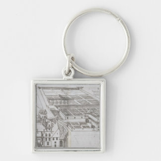 Plan of the enclosed gardens and Chateau de Gaillo Keychain