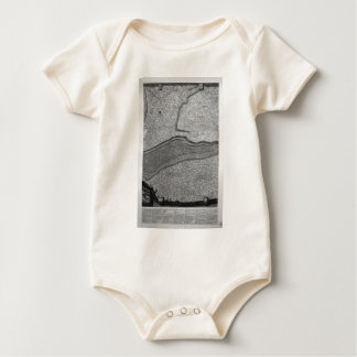 Plan of the existing factories in the Villa Adrian Baby Bodysuit