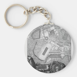 Plan of the existing factories in the Villa Adrian Keychain