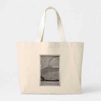 Plan of the existing factories in the Villa Adrian Large Tote Bag