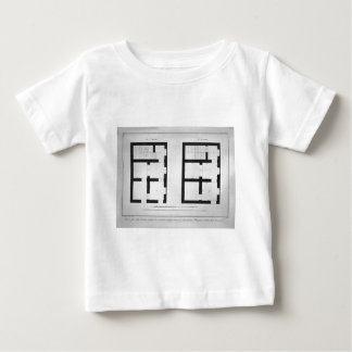 Plan of the first and second floor of that museum baby T-Shirt