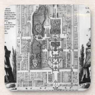 Plan of the Gardens of the Emperor of Peking, from Drink Coasters