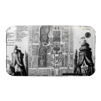 Plan of the Gardens of the Emperor of Peking, from iPhone 3 Case