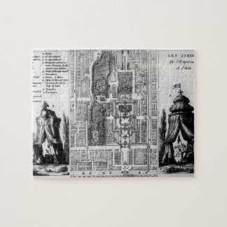 Plan of the Gardens of the Emperor of Peking, from Jigsaw Puzzle