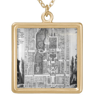 Plan of the Gardens of the Emperor of Peking, from Personalized Necklace