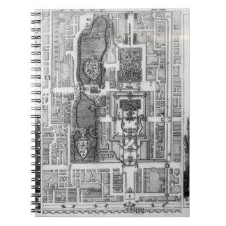 Plan of the Gardens of the Emperor of Peking, from Notebook