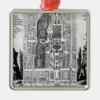Plan of the Gardens of the Emperor of Peking, from Christmas Tree Ornament