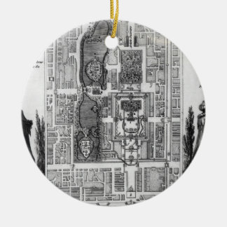Plan of the Gardens of the Emperor of Peking, from Christmas Tree Ornaments