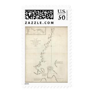 Plan of the Kurile Islands Postage