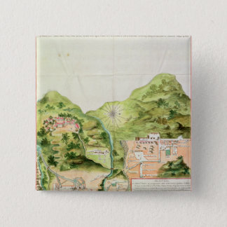 Plan of the Mines of Oaxaca, Mexico, 1785-87 Pinback Button