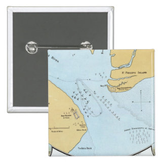 Plan of the Naval Attack And Capture of Port Royal Pinback Button