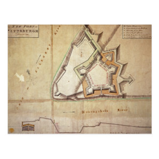 Plan of the New Fort at Pittsburgh Postcard