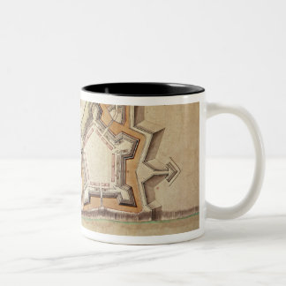 Plan of the New Fort at Pittsburgh Two-Tone Coffee Mug