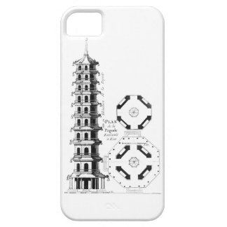 Plan of the Pagoda at Kew, from 'Jardins Anglo-Chi iPhone SE/5/5s Case