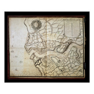 Plan of the Port and Arsenal of Brest, 1676 Poster