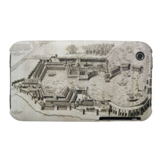 Plan of the port of Ostia Antica, engraved by the iPhone 3 Case-Mate Case