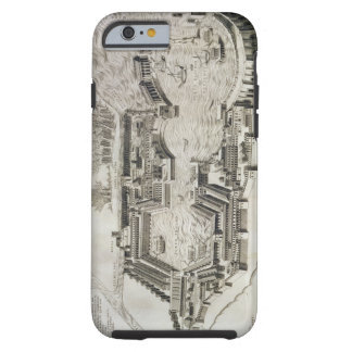 Plan of the port of Ostia Antica, engraved by the Tough iPhone 6 Case