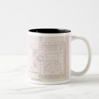 Plan of the Principal Story of the Capitol, Two-Tone Coffee Mug