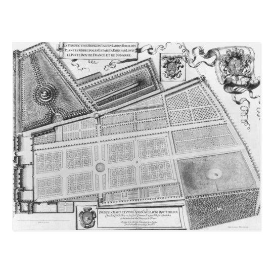 Plan of the Royal Garden Postcard