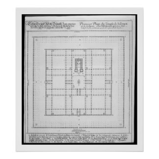 Plan of the Temple of Solomon, Jerusalem, from 'En Poster