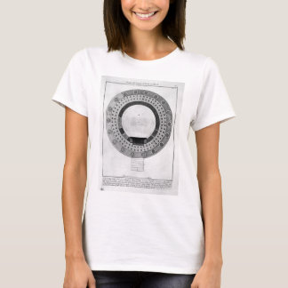 Plan of the Temple of Vesta in Tivoli by Giovanni T-Shirt