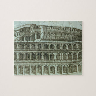 Plan of the Theatre of Marcellus, Rome, 1558 (engr Jigsaw Puzzle