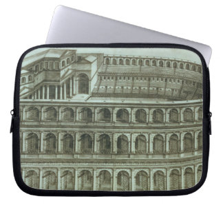 Plan of the Theatre of Marcellus, Rome, 1558 (engr Laptop Computer Sleeve