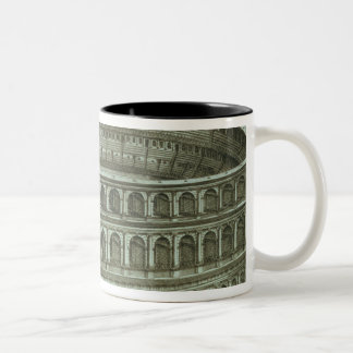 Plan of the Theatre of Marcellus, Rome, 1558 (engr Two-Tone Coffee Mug