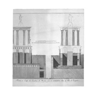 Plan of the tomb of Mamia and outbuildings Notepad