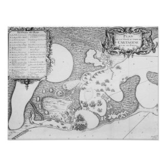 Plan of the Town and Harbour of Cartagena Print
