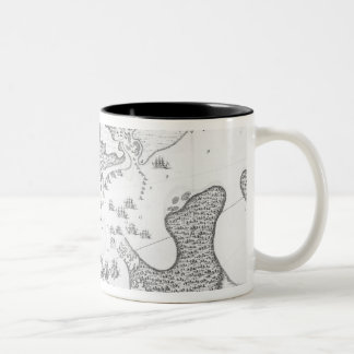 Plan of the Town and Harbour of Cartagena Two-Tone Coffee Mug