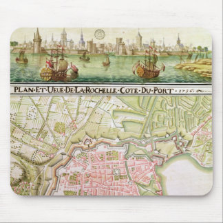 Plan of the town of La Rochelle, 1736 Mouse Pad