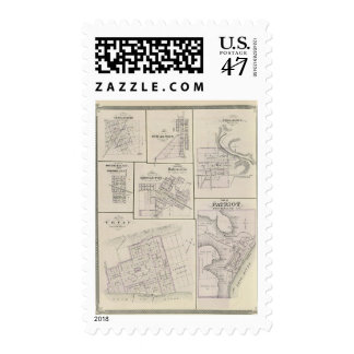 Plan of Vevay, Switzerland Co with Patriot Postage