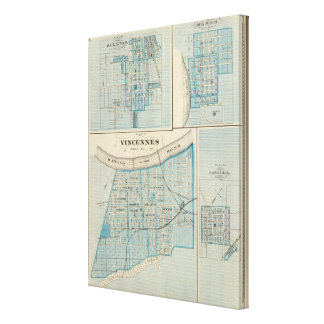 Plan of Vincennes, Knox Co with Sullivan Canvas Print