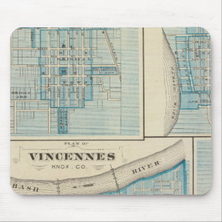 Plan of Vincennes, Knox Co with Sullivan Mouse Pad