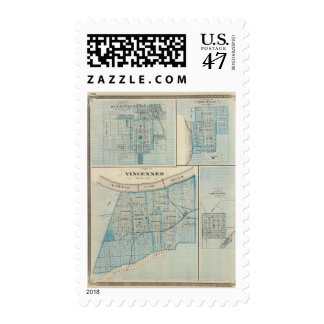 Plan of Vincennes, Knox Co with Sullivan Postage
