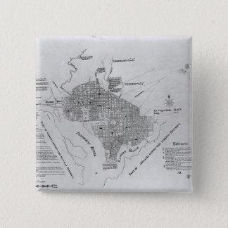 Plan of Washington D.C. Button