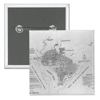 Plan of Washington D.C. 2 Inch Square Button