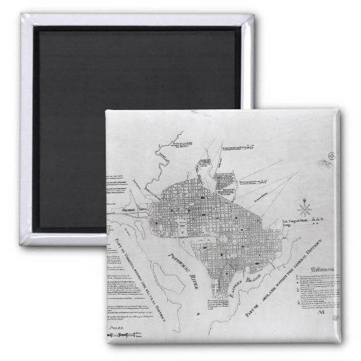 Plan of Washington D.C. Fridge Magnet
