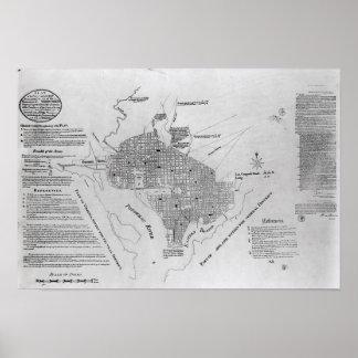Plan of Washington D.C. Poster